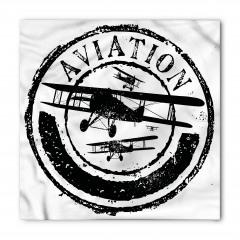 Beyaz Siyah Uçak Bandana Fular