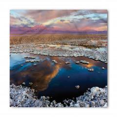 Taşlı Göl ve Gökyüzü Bandana Fular
