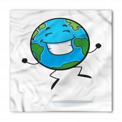 Gülen Dünya Desenli Bandana Fular