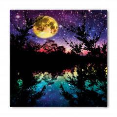 Göl Kenarında Gece Desenli Bandana Fular