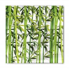 Yeşil Bambu Yaprakları Bandana Fular