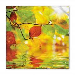 Suya Yansıyan Yapraklar Bandana Fular
