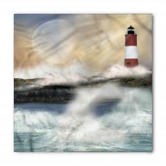 Deniz Feneri ve Dalgalar Bandana Fular