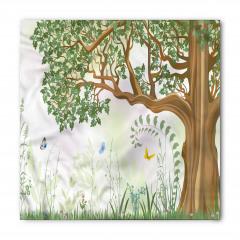 Yeşil Ağaç ve Kelebekler Bandana Fular