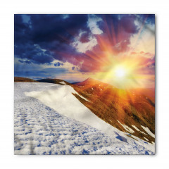 Karlı Dağ ve Gökyüzü Bandana Fular