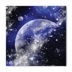 Dünya ve Uzay Desenli Bandana Fular
