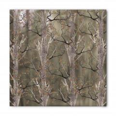 Kahverengi Ağaç Desenli Bandana Fular