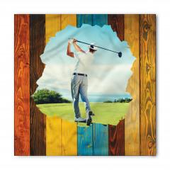 Erkek Golfçü Desenli Bandana Fular