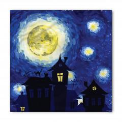 Gece ve Evler Desenli Bandana Fular