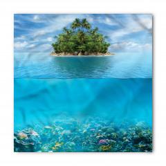 Deniz Yaşamı Desenli Bandana Fular