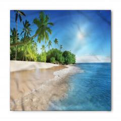 Kumsalda Güneşli Bir Gün Bandana Fular