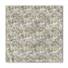 Yeşil ve Pembe Çiçekli Bandana Fular
