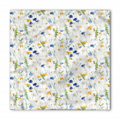 Kır Çiçekleri Desenli Bandana Fular