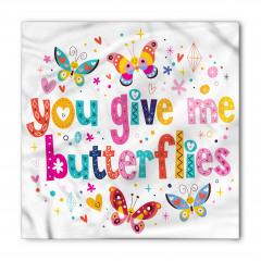 Kelebekli Eğlenceli Bandana Fular