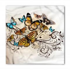 Romantik Kelebek Desenli Bandana Fular