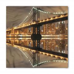 Işıklı Gökdelenler ve Köprü Bandana Fular