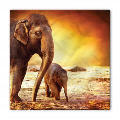 Anne ve Bebek Fil Temalı Bandana Fular
