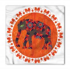 Fil ve Çiçek Desenli Bandana Fular