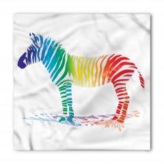 Rengarenk Zebra Desenli Bandana Fular