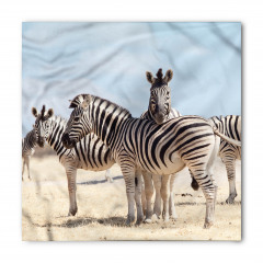 Zebra Desenli Bandana Fular