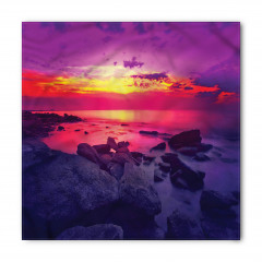 Deniz Kıyısında Gün Batımı Temalı Bandana Fular