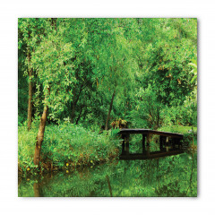 Yeşilin Huzuru Temalı Bandana Fular