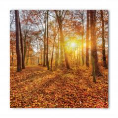 Sonbaharda Gün Batımı Temalı Bandana Fular