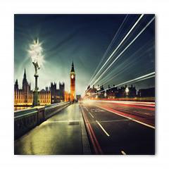 Londra'da Akşam Temalı Bandana Fular