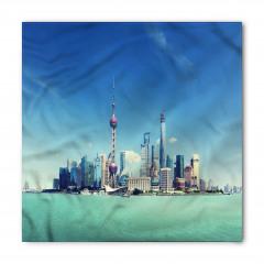 Şanghay Silüeti Temalı Bandana Fular