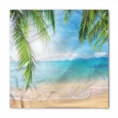 Tropikal Plaj Temalı Bandana Fular
