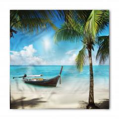 Issız Adada Tekne Temalı Bandana Fular