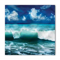 Okyanus Dalgaları Temalı Bandana Fular