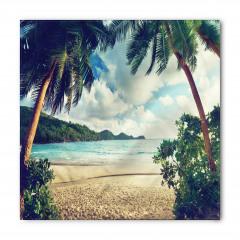 Egzotik Kumsal ve Bulut Temalı Bandana Fular