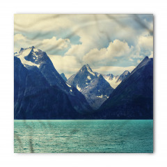 Karlı Dağlar Manzaralı Bandana Fular