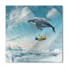 Gökyüzünde Uçan Balina Temalı Bandana Fular
