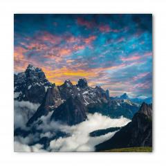 Dağ ve Gökyüzü Manzaralı Bandana Fular