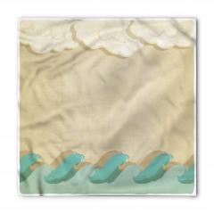 Dalga ve Bulut Desenli Bandana Fular