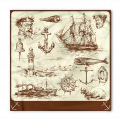 Denizcilik Temalı Bandana Fular