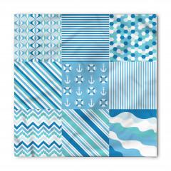 Mavi Kumaş Desenli Bandana Fular