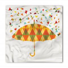 Renkli Üçgen Yağmuru Desenli Bandana Fular