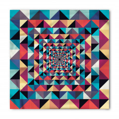 Geometrik Retro Desenli Bandana Fular