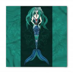 Deniz Kızı Desenli Bandana Fular