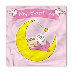 Ayın Üzerinde Uyuyan Bebek Bandana Fular