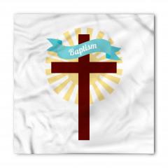 Kutsal Haç ve Vaftiz Desenli Bandana Fular