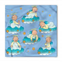Bulutlarda Oynayan Tatlı Bebek Melekler Bandana Fular