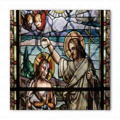 İsa ve Aziz John Vitrayı Desenli Bandana Fular