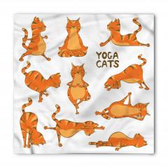 Yogacı Kediler Desenli Bandana Fular