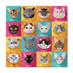 Kedi Cinsleri Desenli Bandana Fular