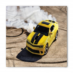 Sarı Yarış Arabası Temalı Bandana Fular
