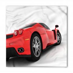 Kırmızı Yarış Arabası Temalı Bandana Fular